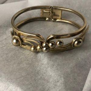 Vintage open cut cuff bracelet